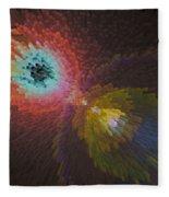 3d Dimensional Art Abstract Fleece Blanket