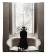 40s Lady Fleece Blanket