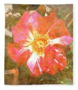 4th Of July Rose Fleece Blanket