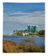 5 Oclock On Cotton Bayou Fleece Blanket