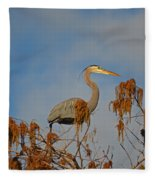 7- Great Blue Heron Fleece Blanket