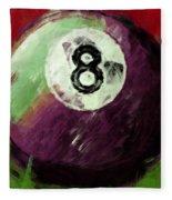 8 Ball Billiards Abstract Fleece Blanket