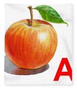 A Art Alphabet For Kids Room Fleece Blanket