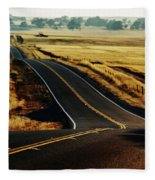 A Country Road In The Central Valley Fleece Blanket