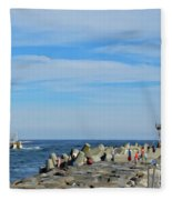 A Day At The Beach 2 Fleece Blanket