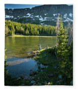 A Fly Fisherman Fishes A High Alpine Fleece Blanket