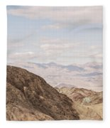 A Hiker Stands On A Peak Fleece Blanket