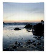A Landscape Of Rocks On The Coast Fleece Blanket