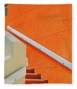 a L'orange Fleece Blanket
