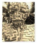 1 A Maze Ing Man Sepia Fleece Blanket