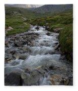 A Mountain Stream In Vanoise National Fleece Blanket