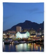 A Night View Of The Victoria And Alfred Fleece Blanket