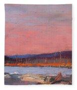A Northern Lake Fleece Blanket