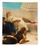 A Reading From Homer Fleece Blanket