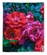 A Rose Is A Rose Fleece Blanket