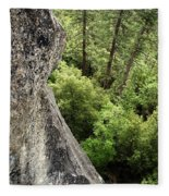 A Young Boy Climbs In Yosemite, June Fleece Blanket