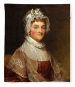 Abigail Smith Adams By Gilbert Stuart Fleece Blanket