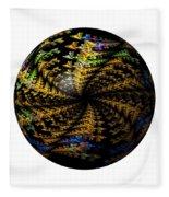Abstract Globe Fleece Blanket