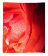 Abstract Orange Rose 10 Fleece Blanket