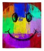 Abstract Smiley Face Fleece Blanket