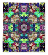 Abstract Symmetry Of Colors Fleece Blanket