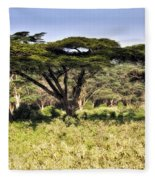 Acacia Trees Fleece Blanket