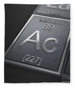 Actinium Chemical Element Fleece Blanket