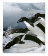 Adelie Penguins Fleece Blanket