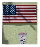 Advertisement On Route 66 In Arizona Fleece Blanket