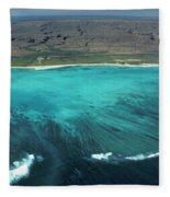 Aerial Of Ningaloo Reef And Cape Range Fleece Blanket