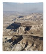 1-aerial Photography Of The Negev  Fleece Blanket