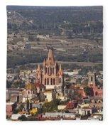 Aerial View Of San Miguel De Allende Fleece Blanket