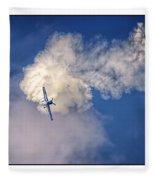 Air Show Selfridge Havilland Super Chipmunk Fleece Blanket