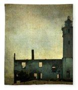 Alcatraz Island Lighthouse Fleece Blanket