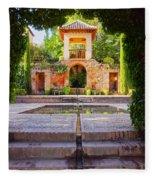 Alhambra In Granada Fleece Blanket