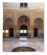 Alhambra Palace Patio Del Cuarto Dorado Fleece Blanket