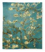 Almond Blossoms Fleece Blanket