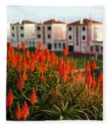 Aloe Flowers Fleece Blanket