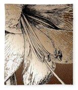 Amaryllis Fleece Blanket