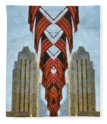 American Architecture Fleece Blanket