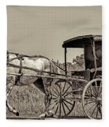 Amish Boy Tips Hat Fleece Blanket