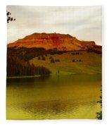 An Alpine Lake Fleece Blanket