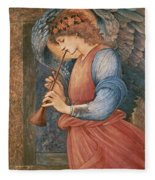 An Angel Playing A Flageolet Fleece Blanket