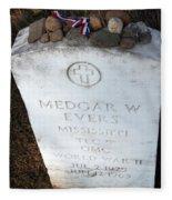 Medgar Evers -- An Assassinated Veteran Fleece Blanket