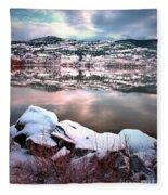 An Okanagan Winter Fleece Blanket