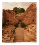 Anasazi Ruins  Fleece Blanket