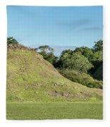 Ancient Mayan Ruins, Altun Ha, Belize Fleece Blanket