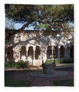 Ancient Spanish Monastery Fleece Blanket