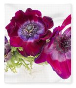 Anemone Trio Fleece Blanket