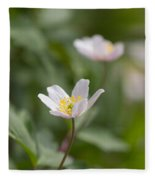 Anemone Windflower Fleece Blanket